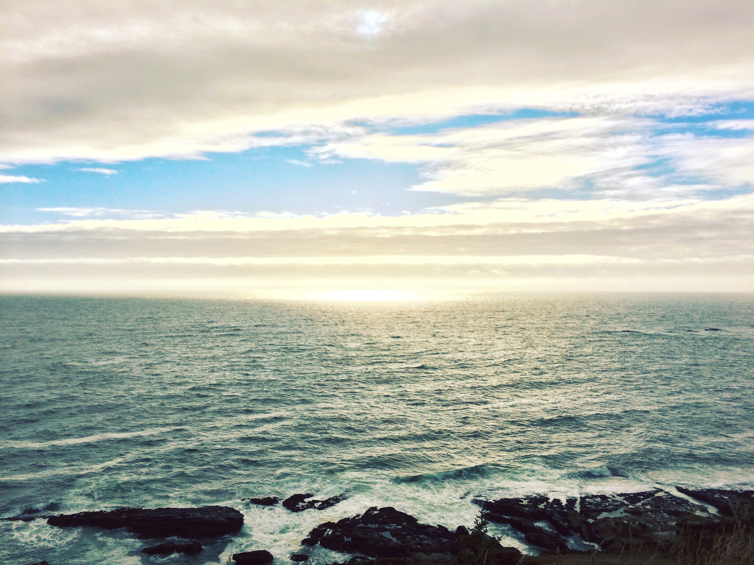 The Pacific Ocean from Coos Bay, Oregon. Breathtaking.
