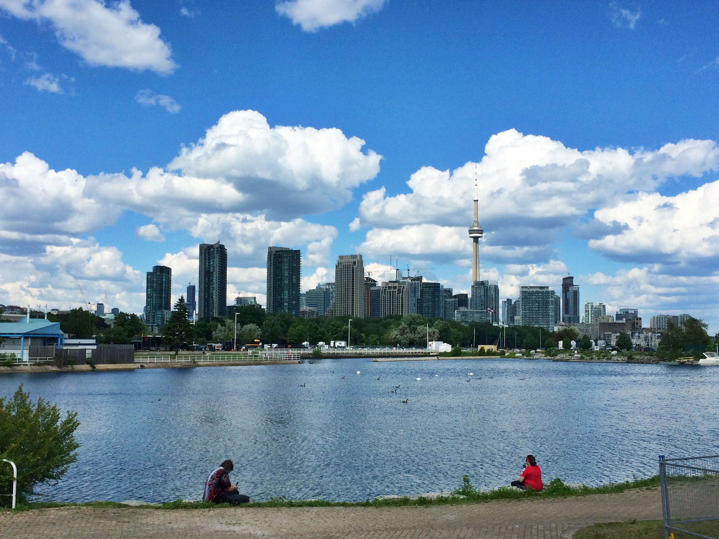the beautiful view of Toronto, Ontario from our venue, The Molson Canadian Ampitheatre.