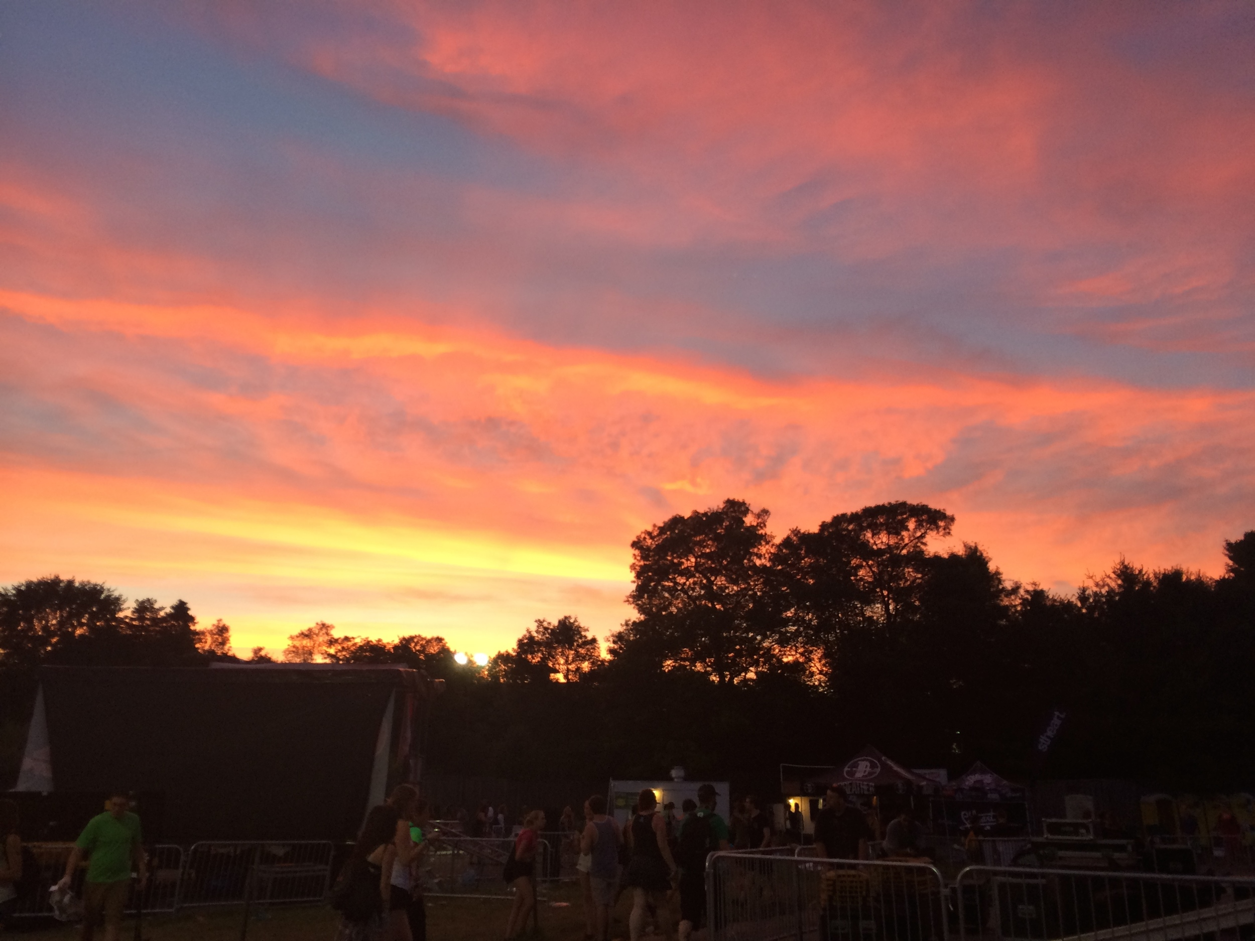 the sunset over the venue in Boston, MA.