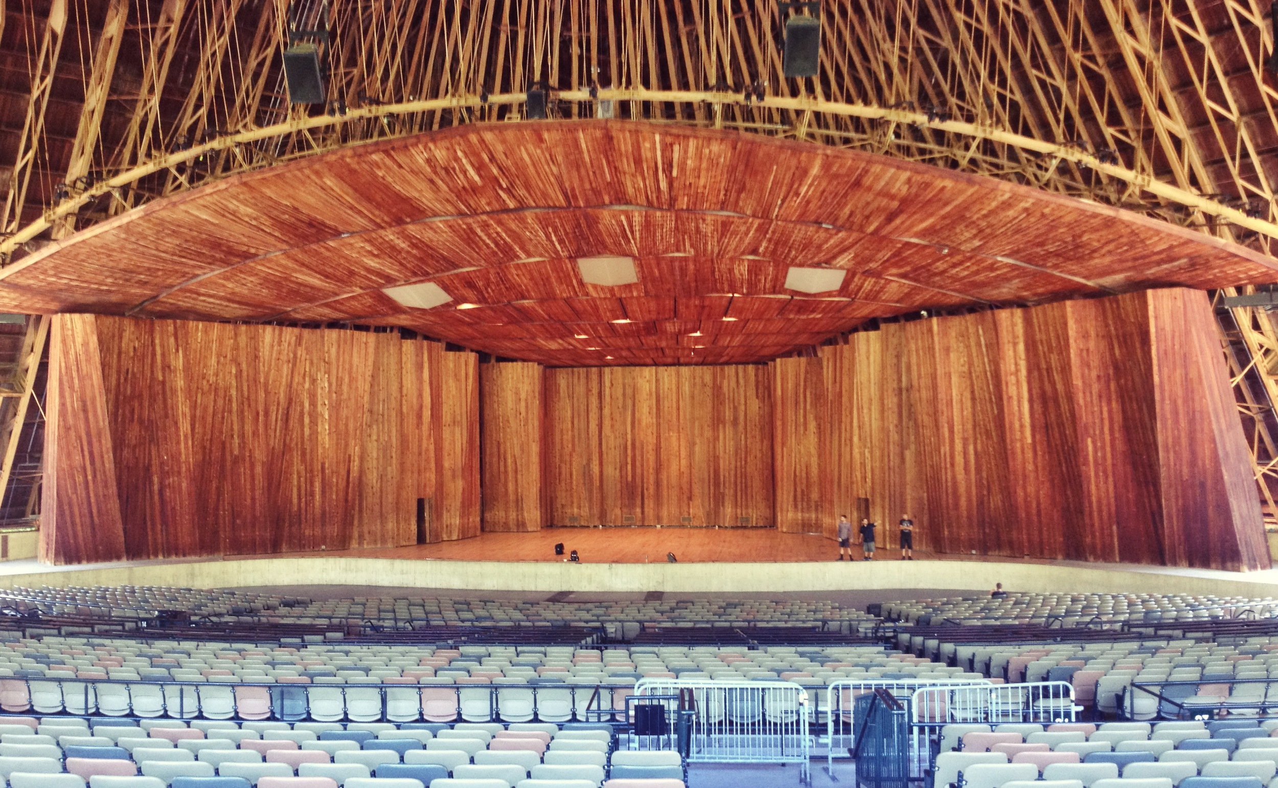 The beautiful amphitheater at the Blossom Music Center in Cleveland, OH.