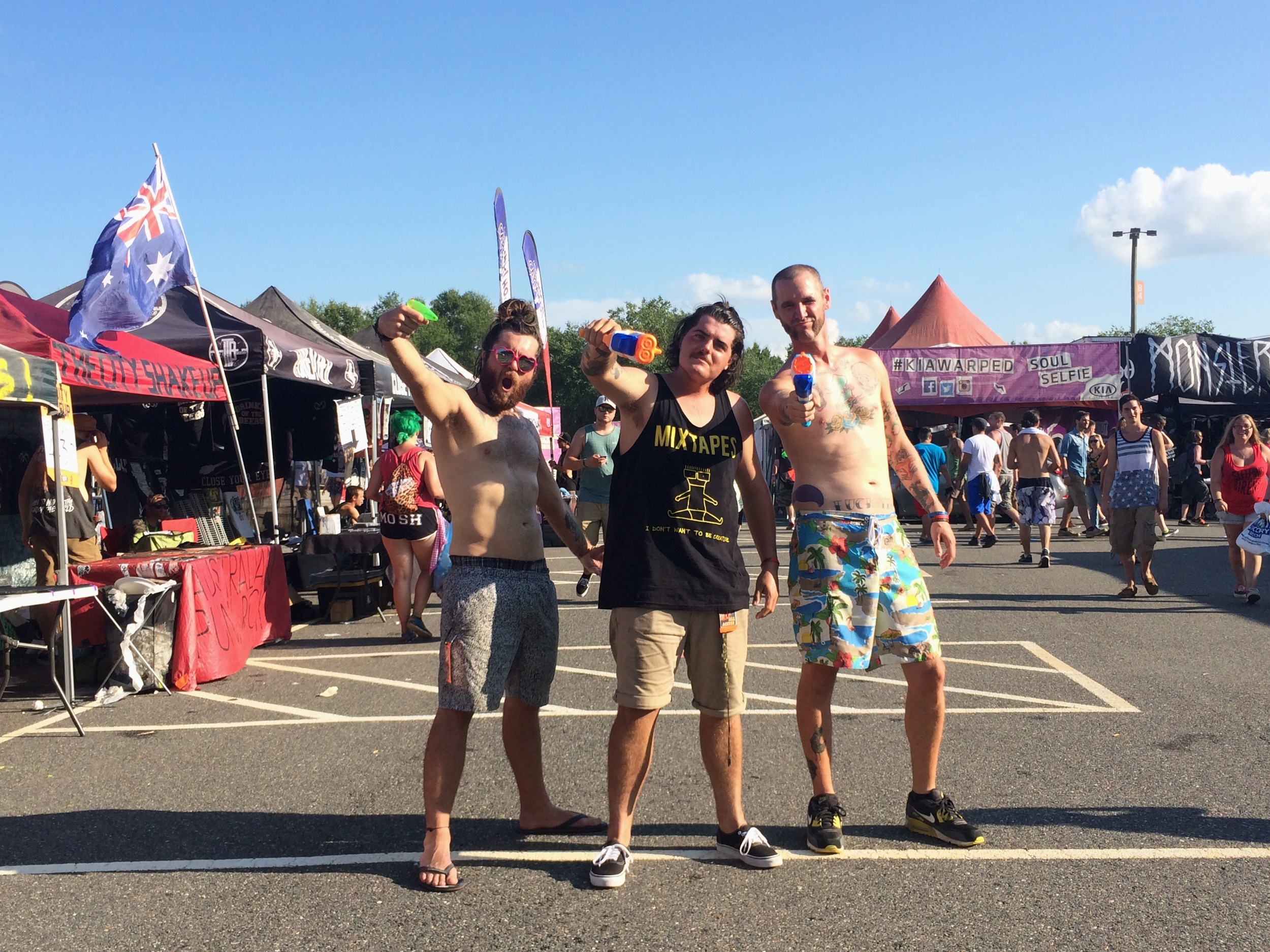 some of America's favorite merchies all losing our minds in the merch village in VIRGINIAAAAAH.