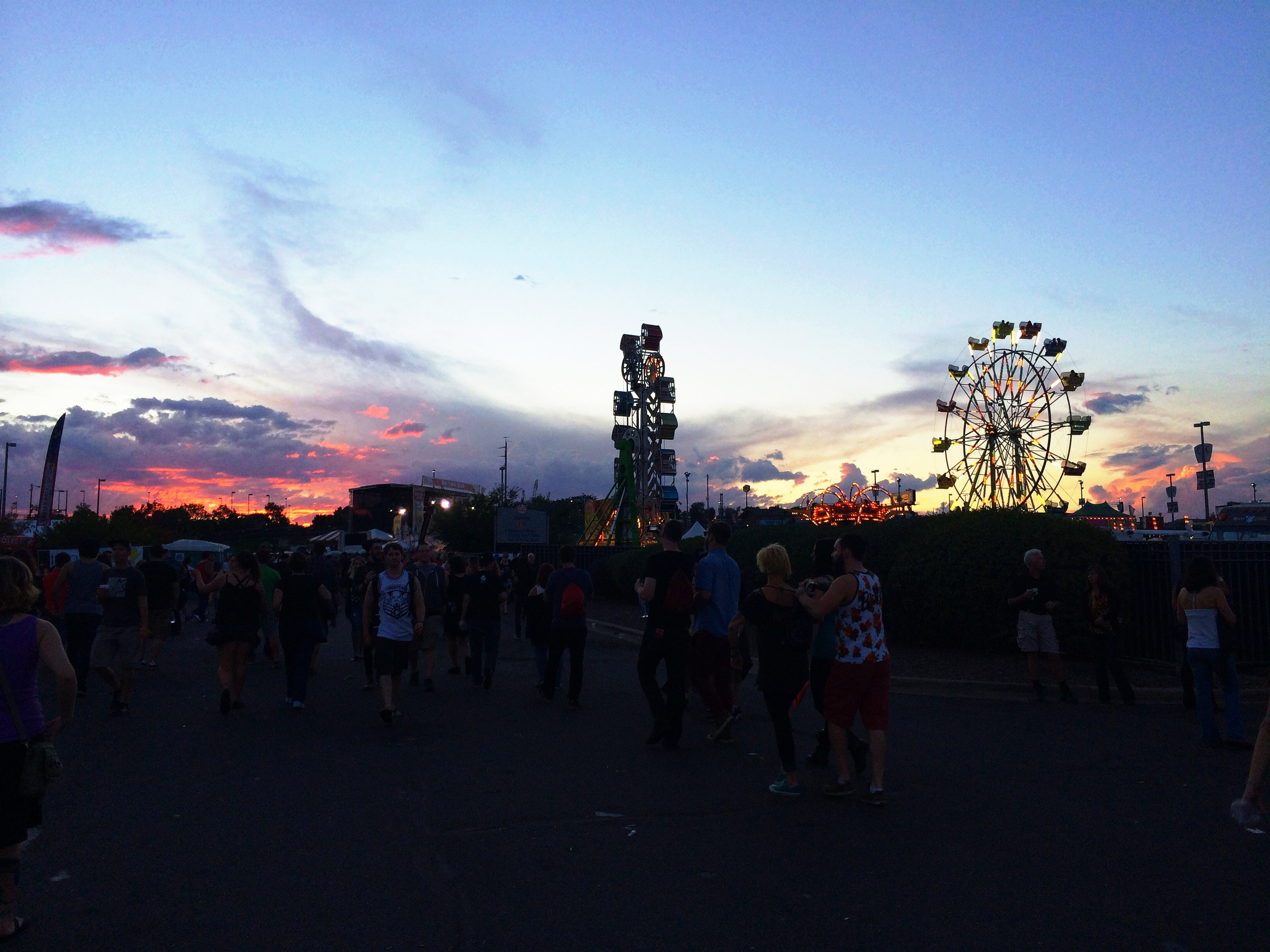 sunset on Day 1