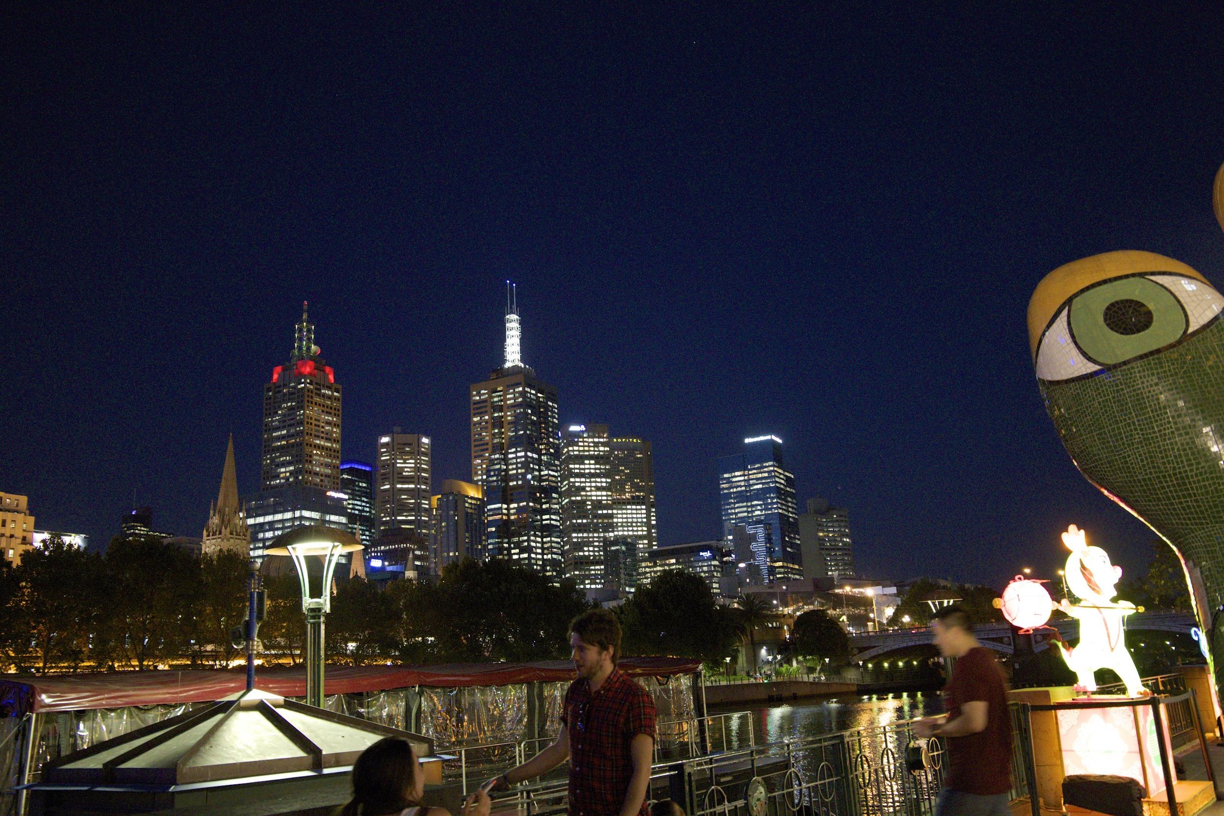 dinner on the Riverwalk in Melbourne