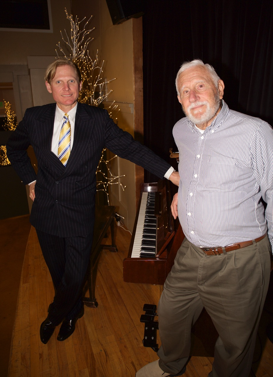 Frederick Hodges (L) with Bob Gonzalez, the Inspiration for Ragtime Night