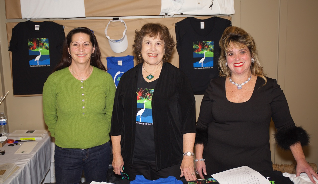 Centennial Sales with Park and Rec Staff Linda, Carla Condon and Chamber of Commerce Exec. Director, Julie Kritzberger