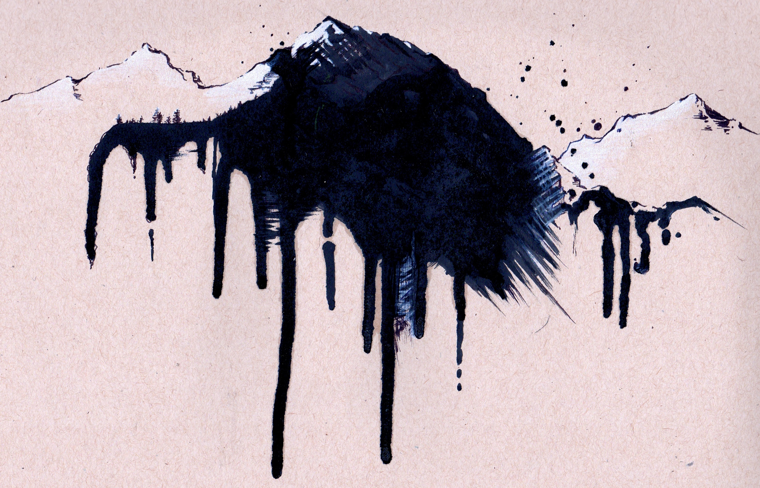 - Glacier Mountains arm band tattoo-
