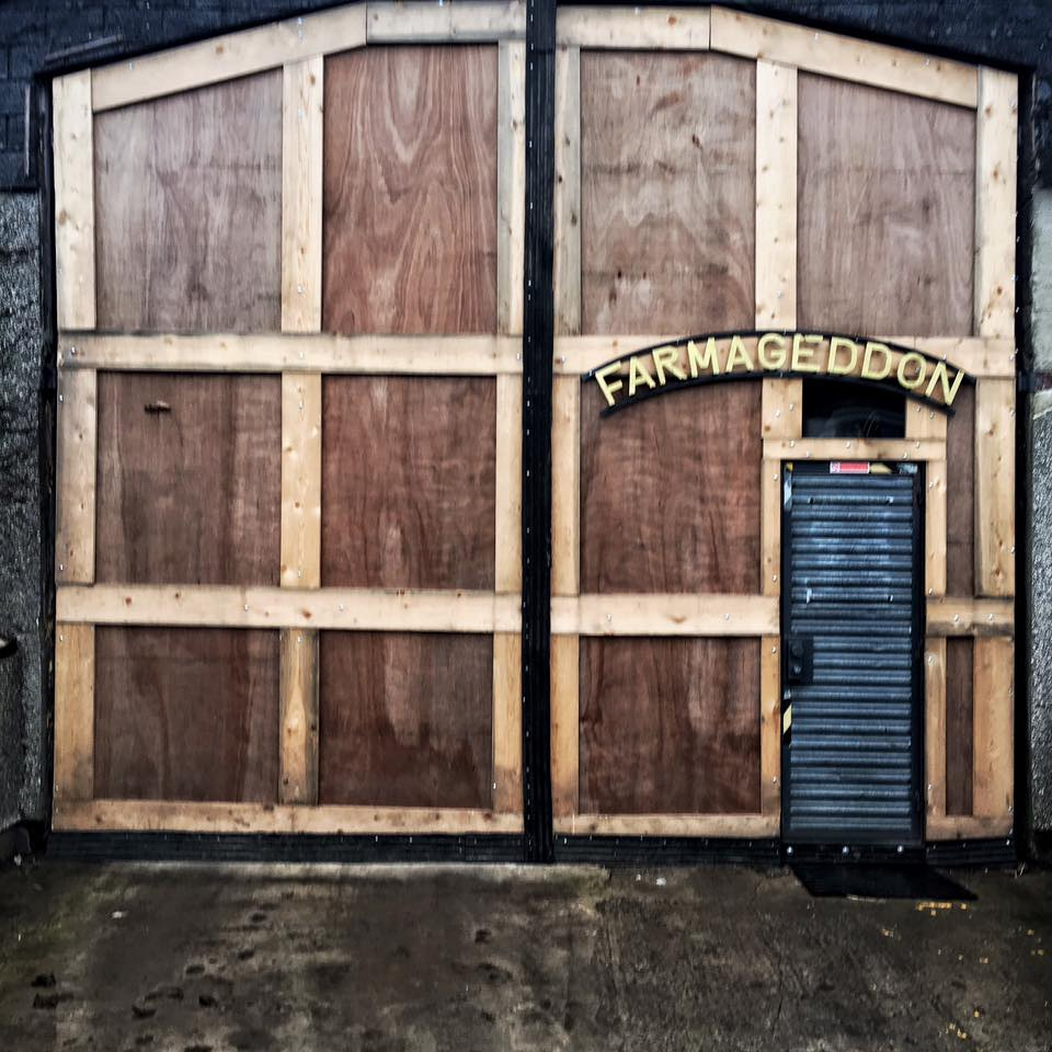 Farmageddon Brewery. Behind this door is the key to no hangovers - preservative free beer.