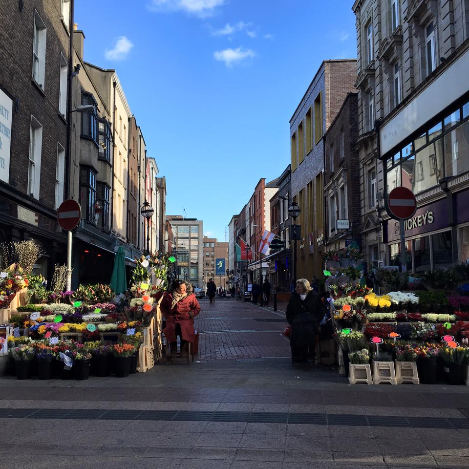 Dublins Fair City. Flower market ladies