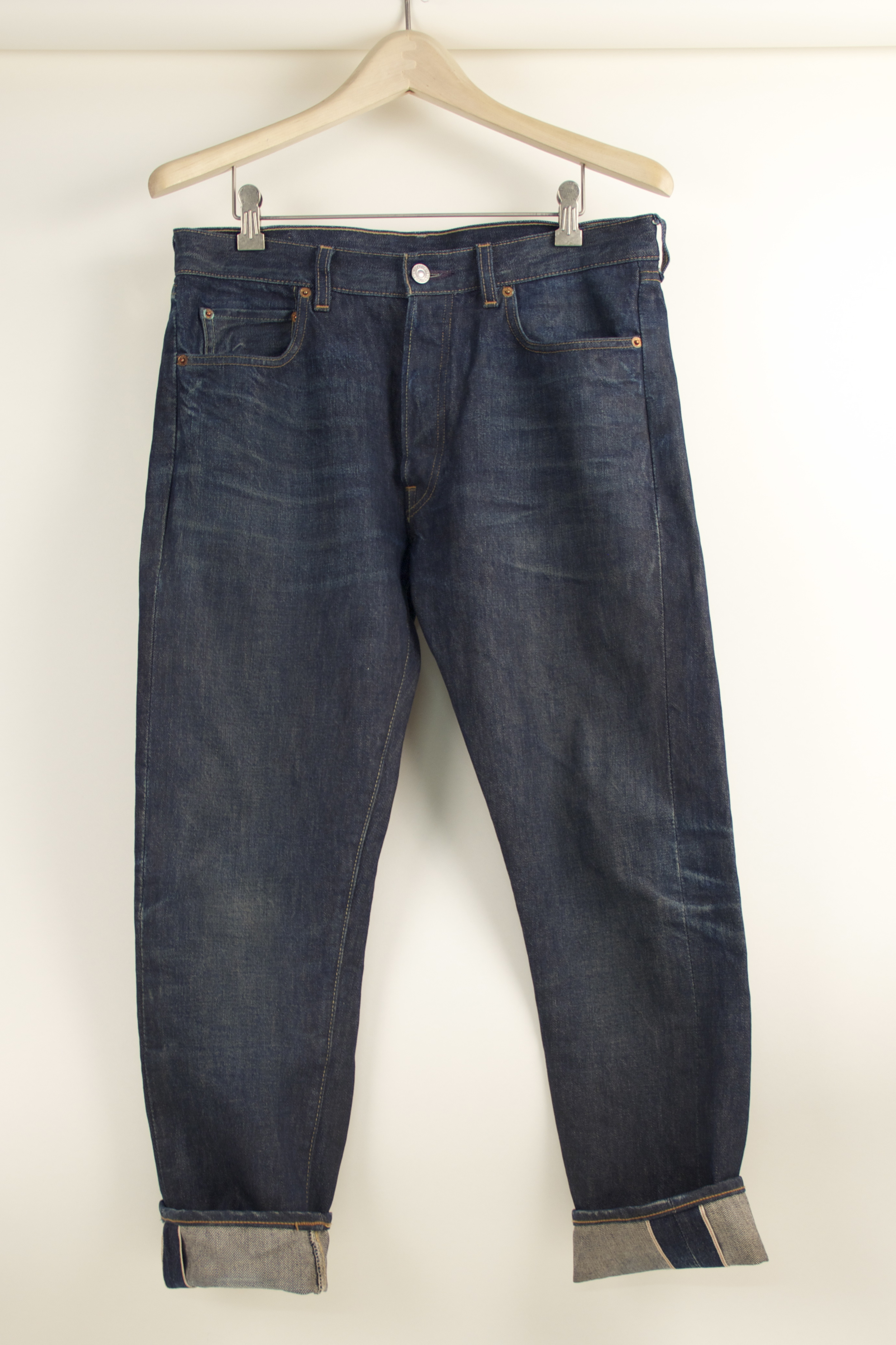 Howard Gee's pair of Levi's '66 501s, the inspiration for the AB Fits 25th Anniversary collaboration with Raleigh Denim.