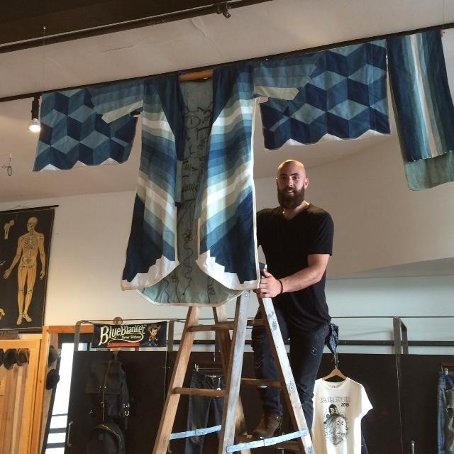 Jordan Hanging the Kimono made by Michael Masterson