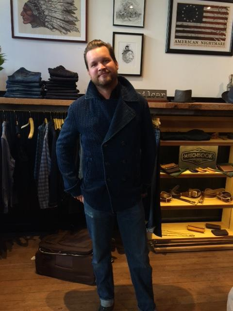 Colby in his new jacket from Shockoe Atelier
