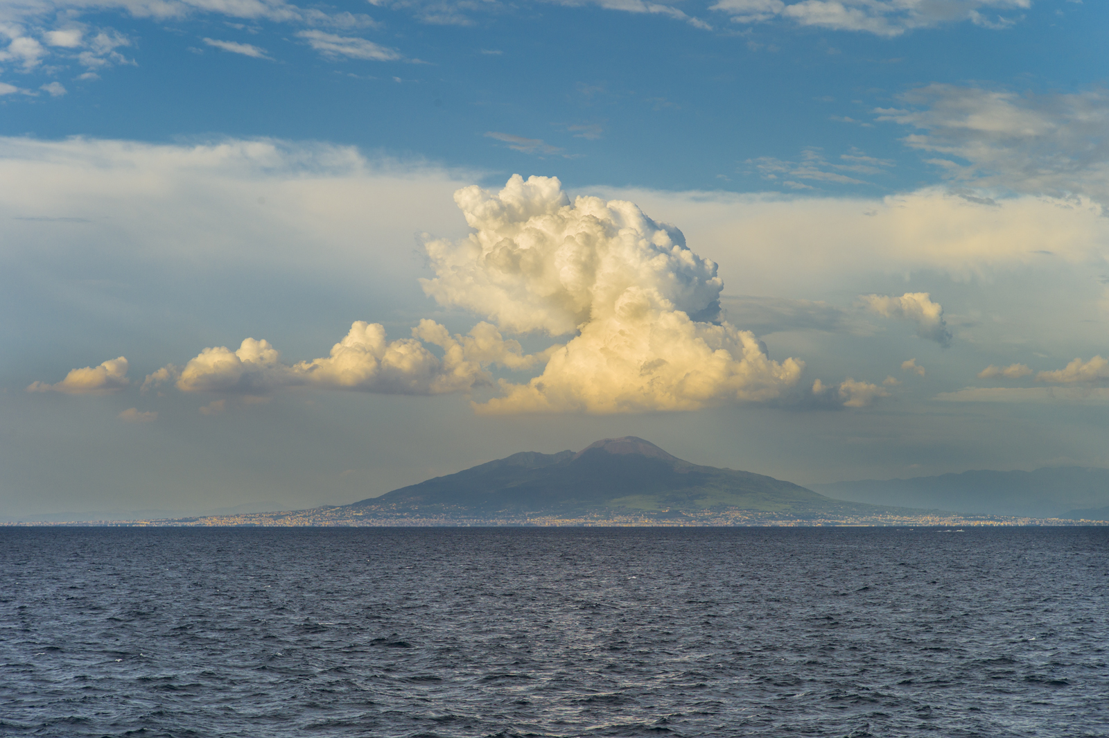 "Mount Vesuvius, Italy. August 2013. Archival Inkjet Print 22"" X 33"". Currently exhibited at Bedford Gallery in California as part of 'Sky: A National Juried Exhibition' (March 9–May 25)."