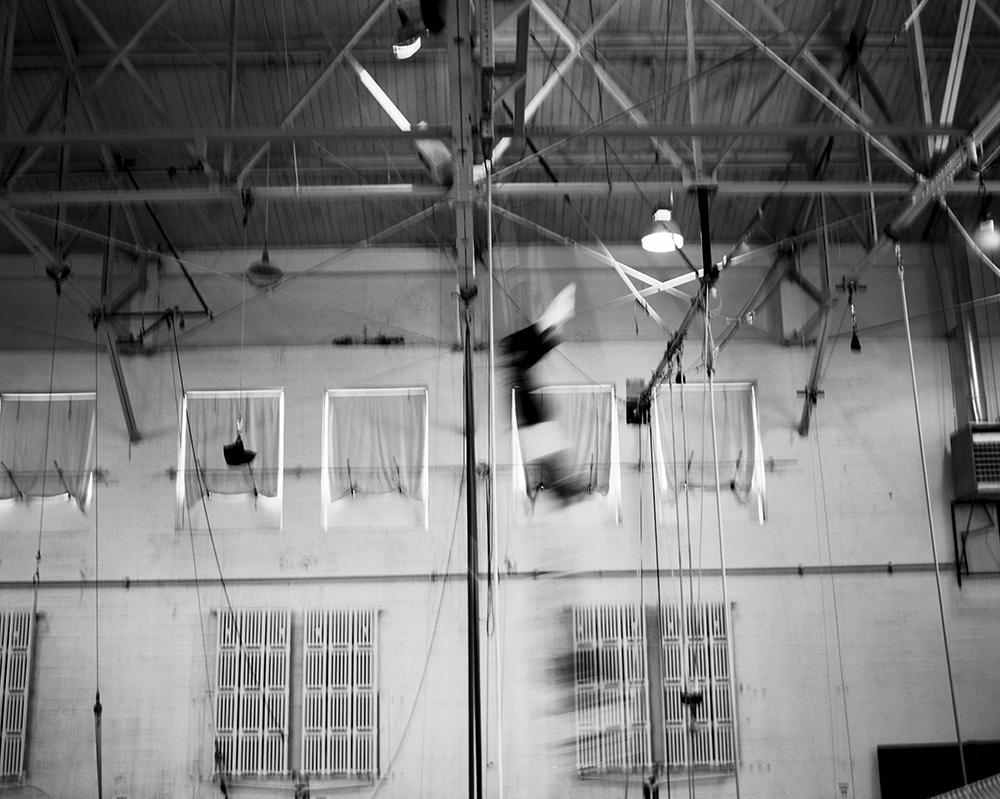 Flying Trapeze Artist. San Francisco, California. March 2014 {Scanned b&w 120mm film negative}.