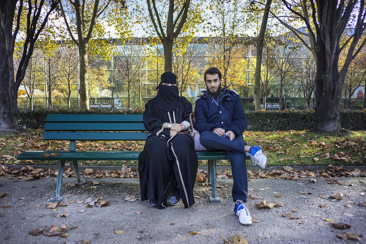 Abdul Rahman and his wife on their honeymoon. Paris, France. November 2014.