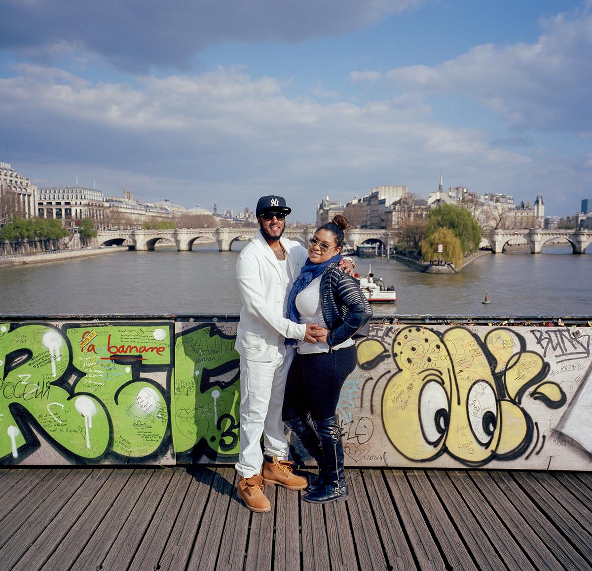 Edwin and Yo-Denise at Pont des Arts. Paris, France. April 2015.