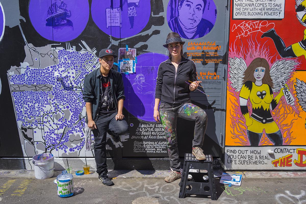 Carla & Lee   Street Artists.San Francisco, California. April 2015.
