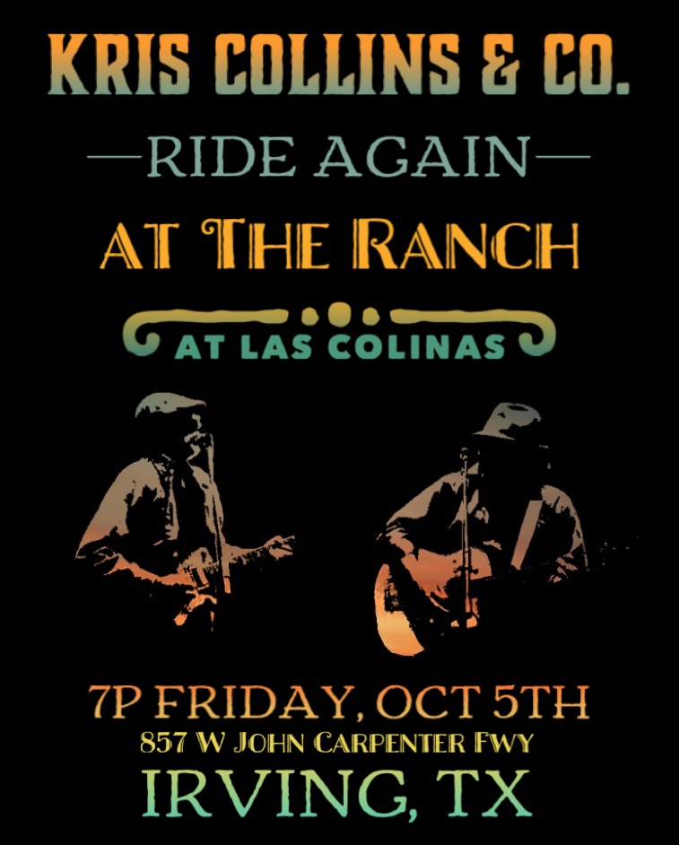 We're stoked to be back at the Ranch this Friday night! It's been a minute but we're coming back fresh and bringing our signature Texas Soul to the patio stage. Grab a few friends and a few beers and come hang! We get started at 7.