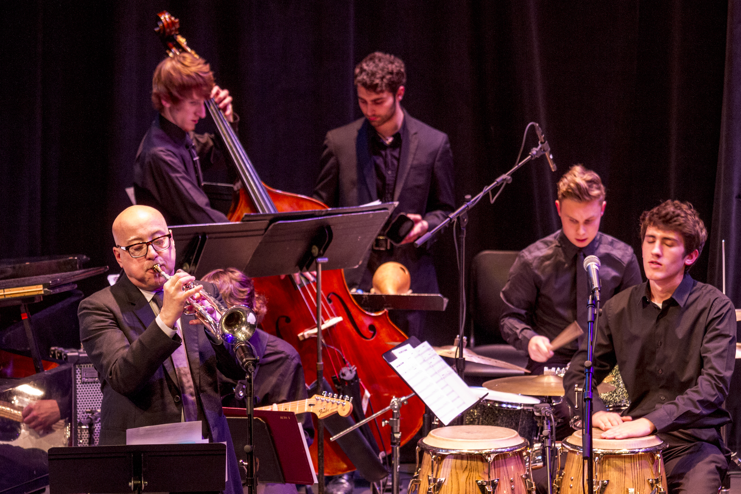 2014 UW Honors Jazz Band performing with trumpeter Brian Lynch