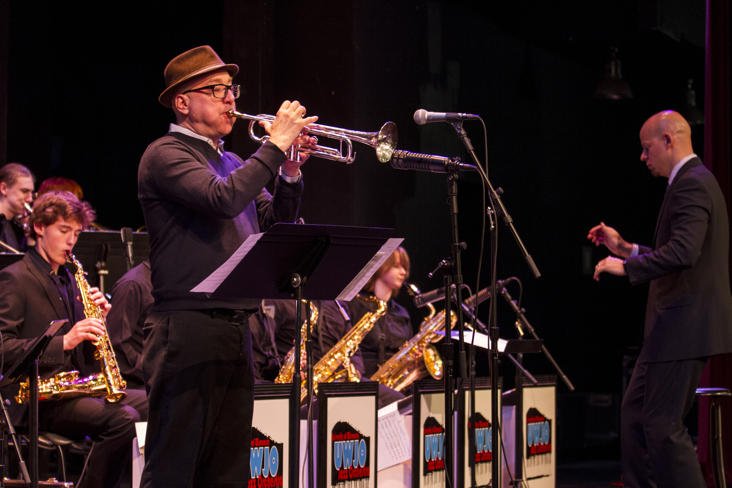 2014 UW Honors Jazz Band performance with guest trumpeter Brian Lynch (Miami, NYC)