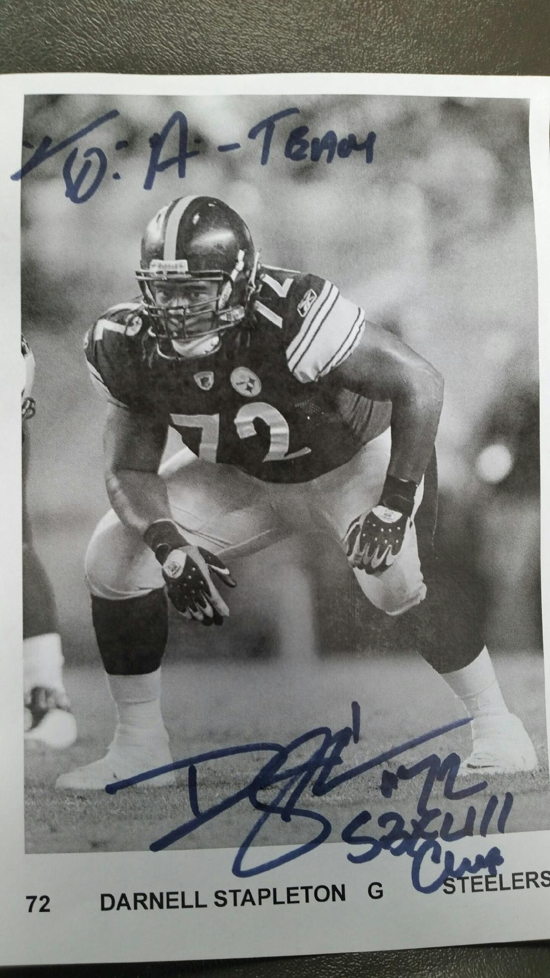 Autograph- From: Darnell To: Willaim