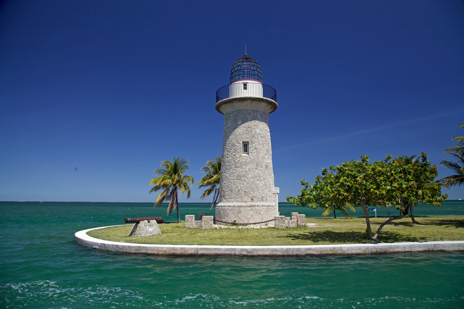 Ornamental lighthouse on Boca Chita Key. Park visit  #54 .