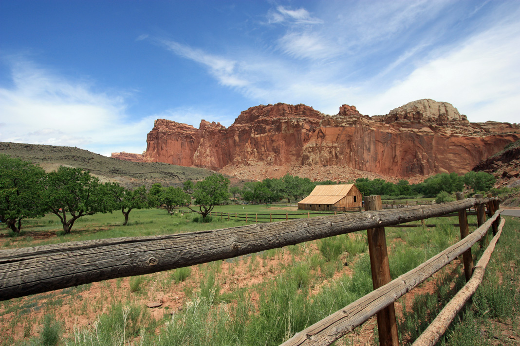 Orchards and Barn at Capitol Reef