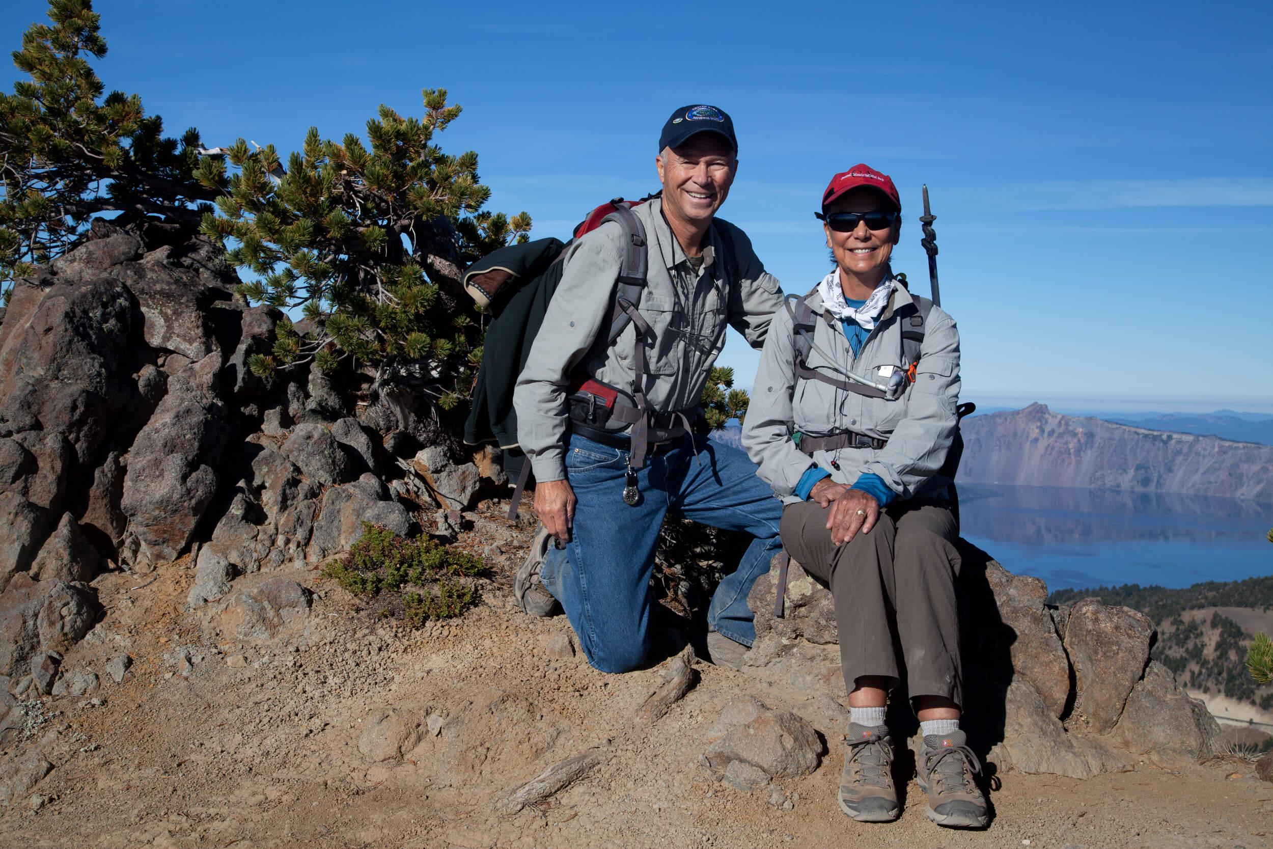 Trekking Crater Lake. Park visit  #41 .