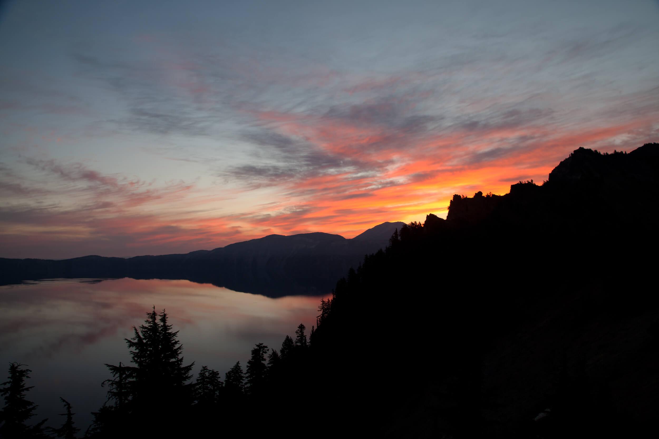 Crater Lake sunrise.