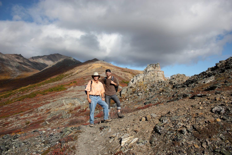 John and Charlie trekking Mt. Healy. Park visit  #27 .