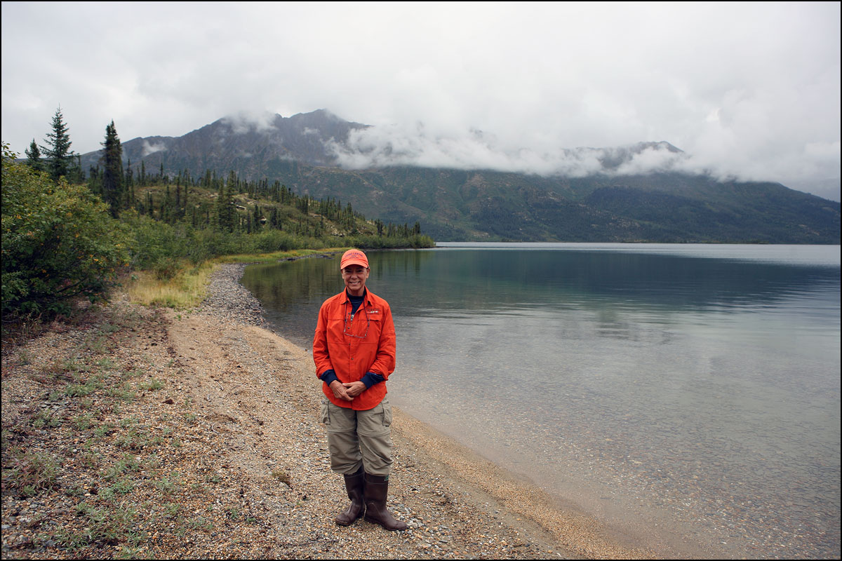 Terry trekking Walker Lake. Park visit  #49 .
