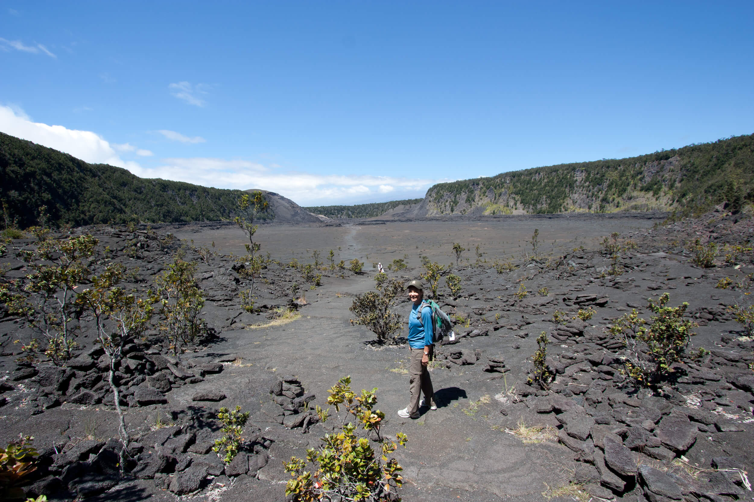 Trekking the Kilauea Iki Trail during our  31st  park visit. This hike is currently OFF LIMITS due to the current volcanic activity!