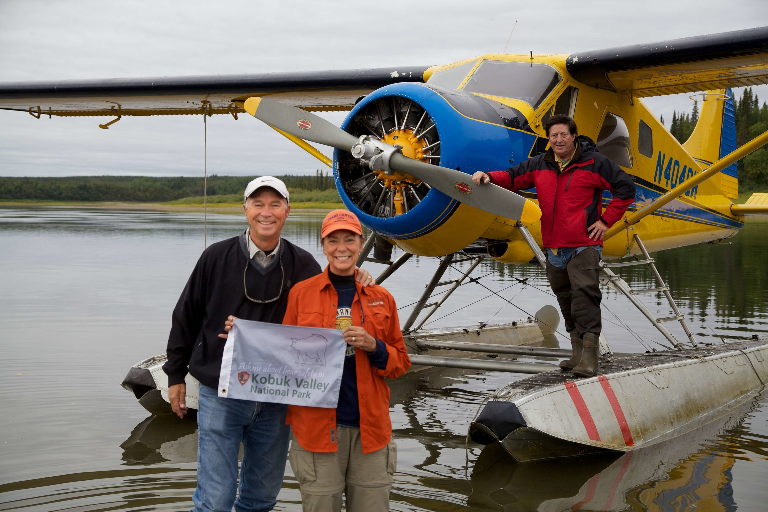 We hired Jim McClain ... our Bush Pilot to fly us into park  #48  - Kobuk Valley.