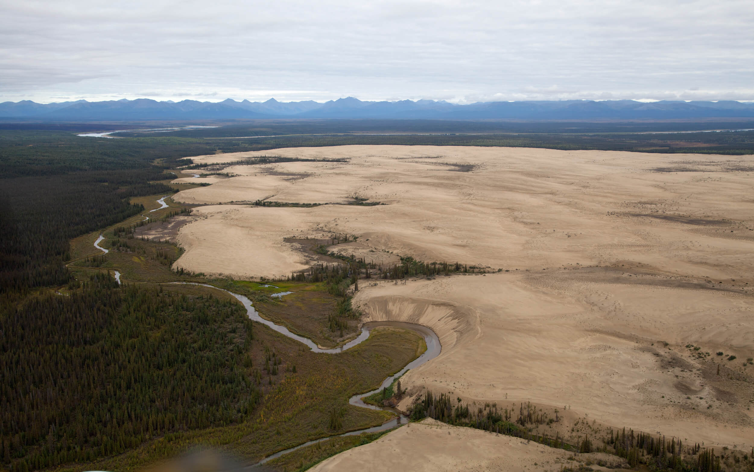 Sand dunes above the Arctic Circle!