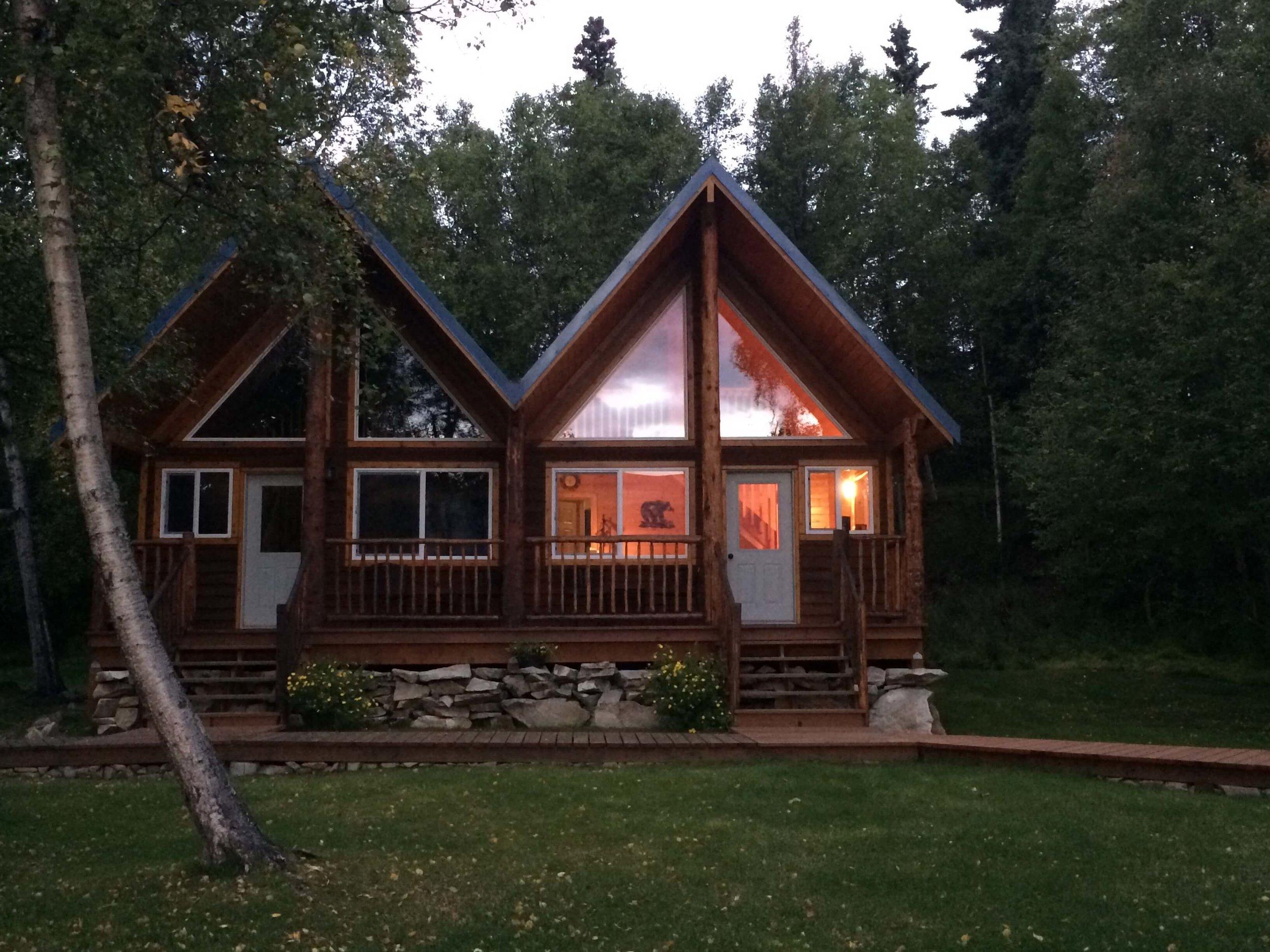 Our cabin at  The Farms Lodg e - Port Alsworth, AK