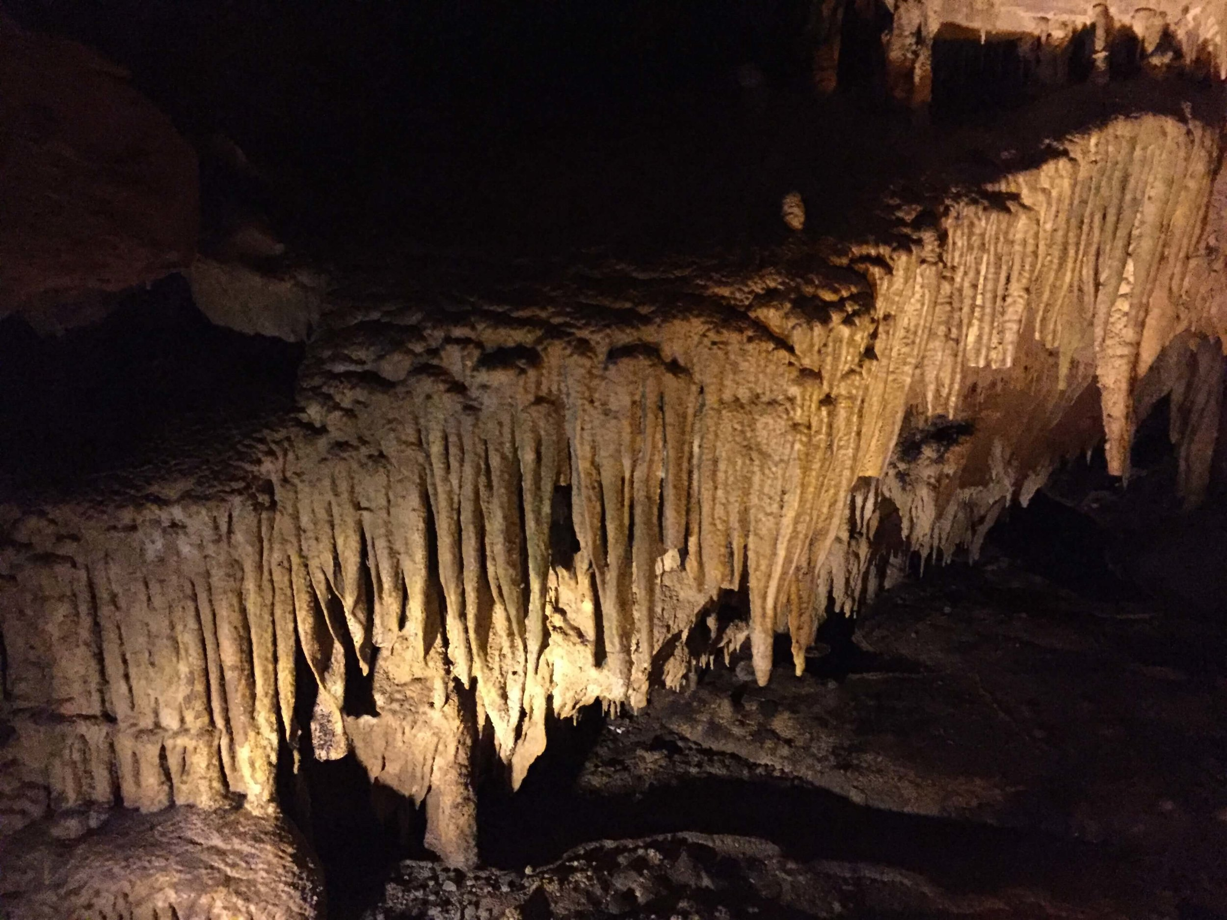 Typical cave formations