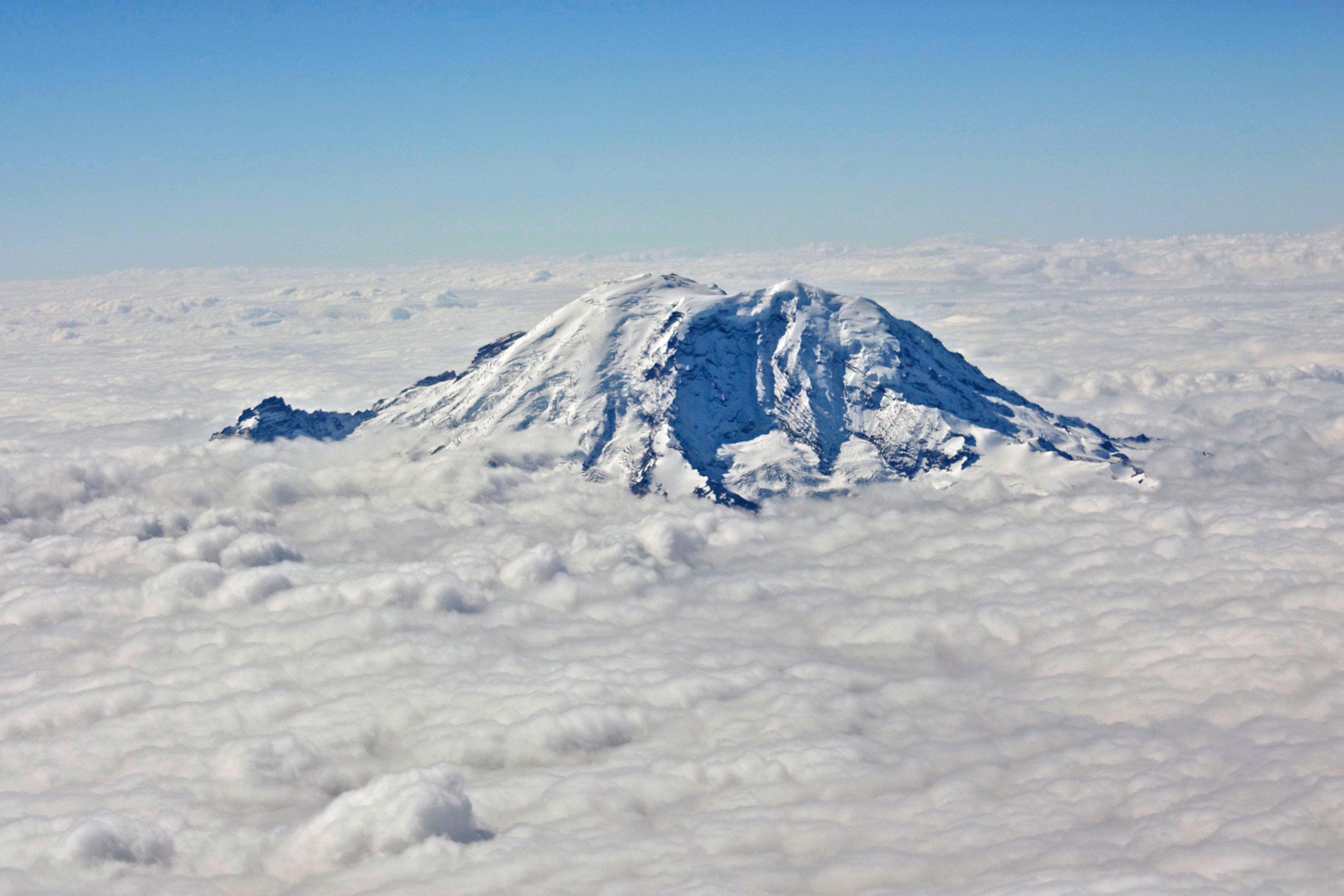 Mt. Rainier from 20,000 feet