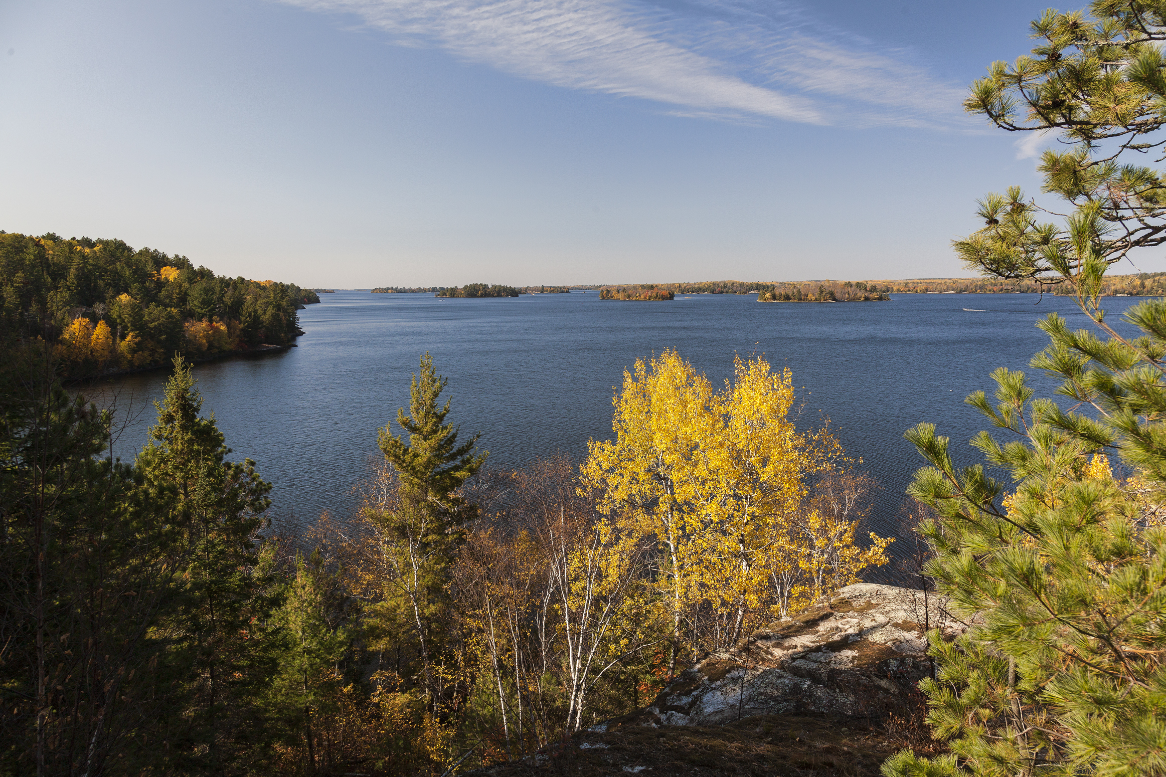 Landscape view of Voyageurs National Park courtesy of Andrew Thomas.