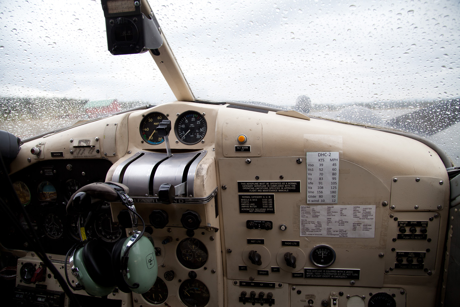 View out the cockpit on our flight to Kobuk Valley Sand Dunes. Visibility =barely!