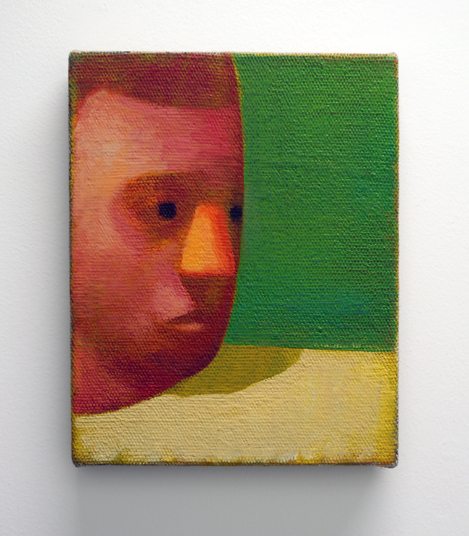 "Nate Meade.  Shoulder Shadow . Oil on linen. 8"" x 10"". 2013."