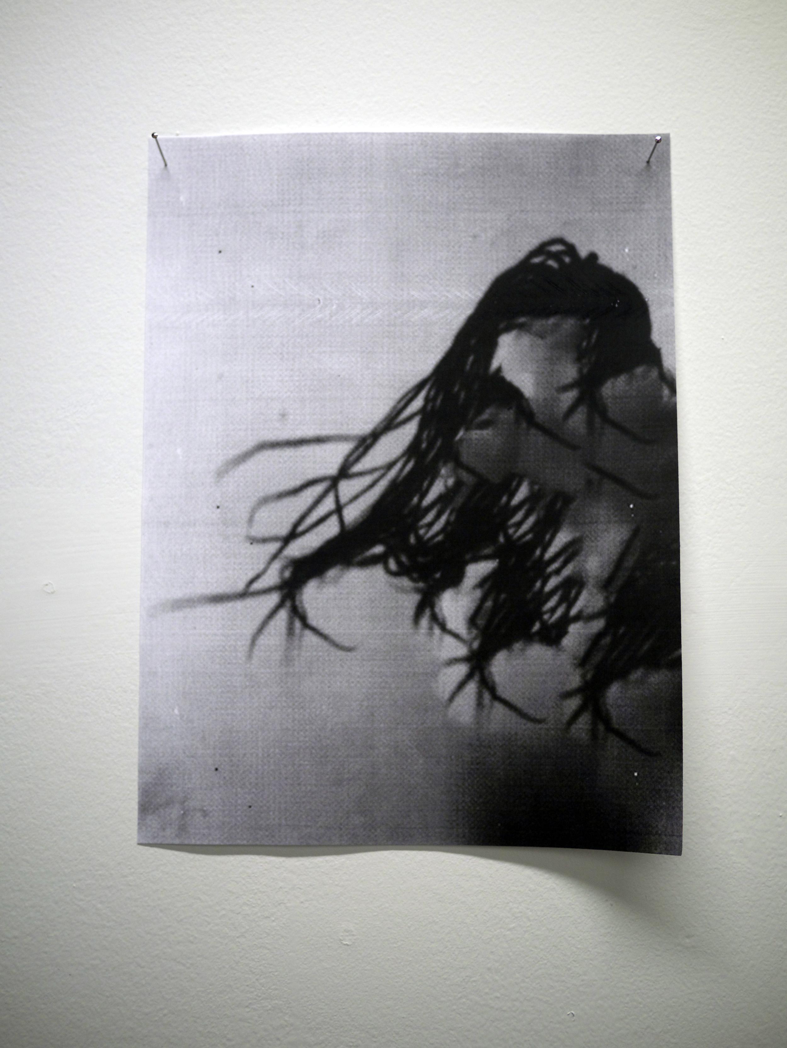 "Sondra Perry. fragment of  100% Tangle Free.  digital Xerox. 11"" x 8.5"".2013"