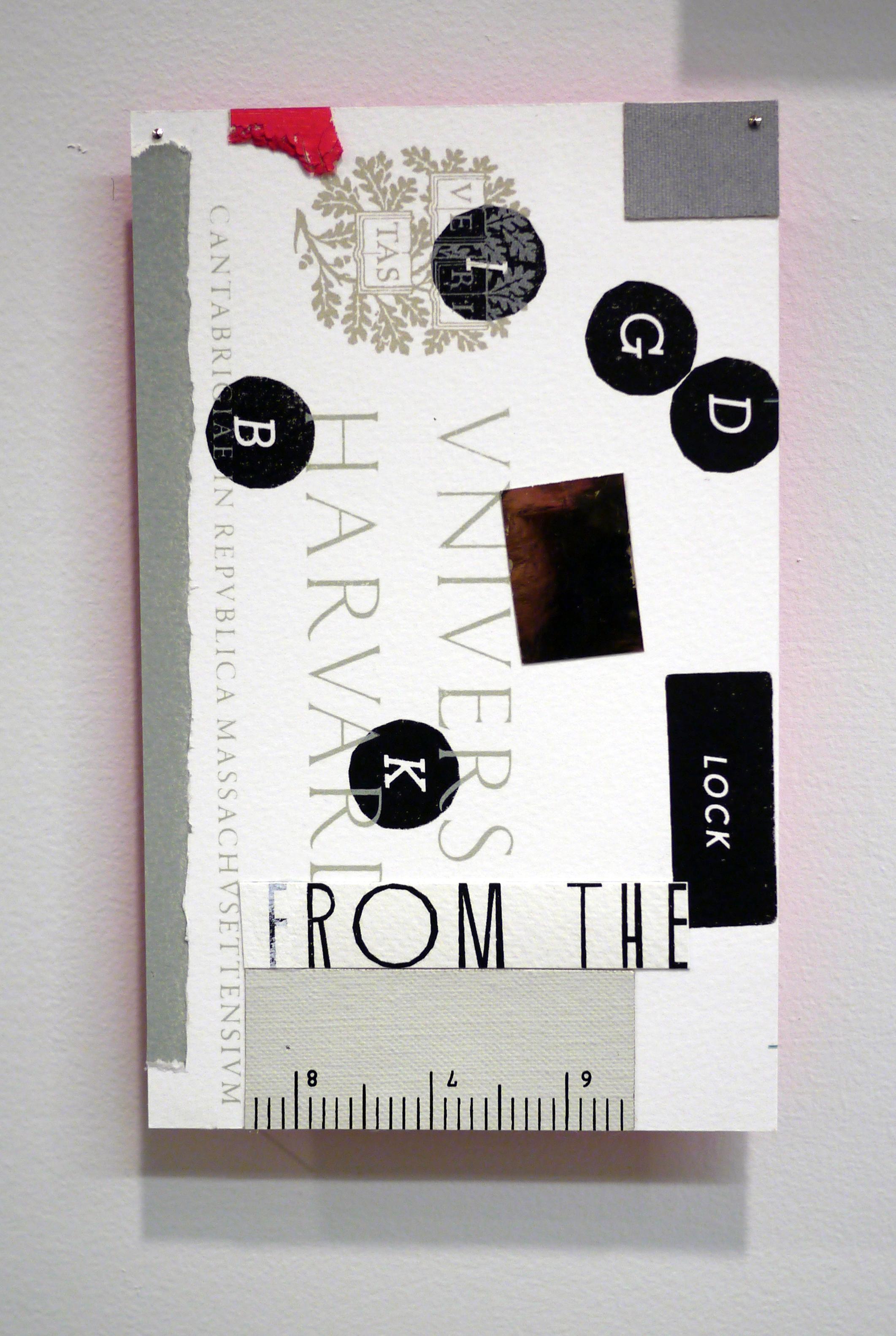 """Matthew Brannon. untitled. collage. 5"""" x 8"""". 2013."""