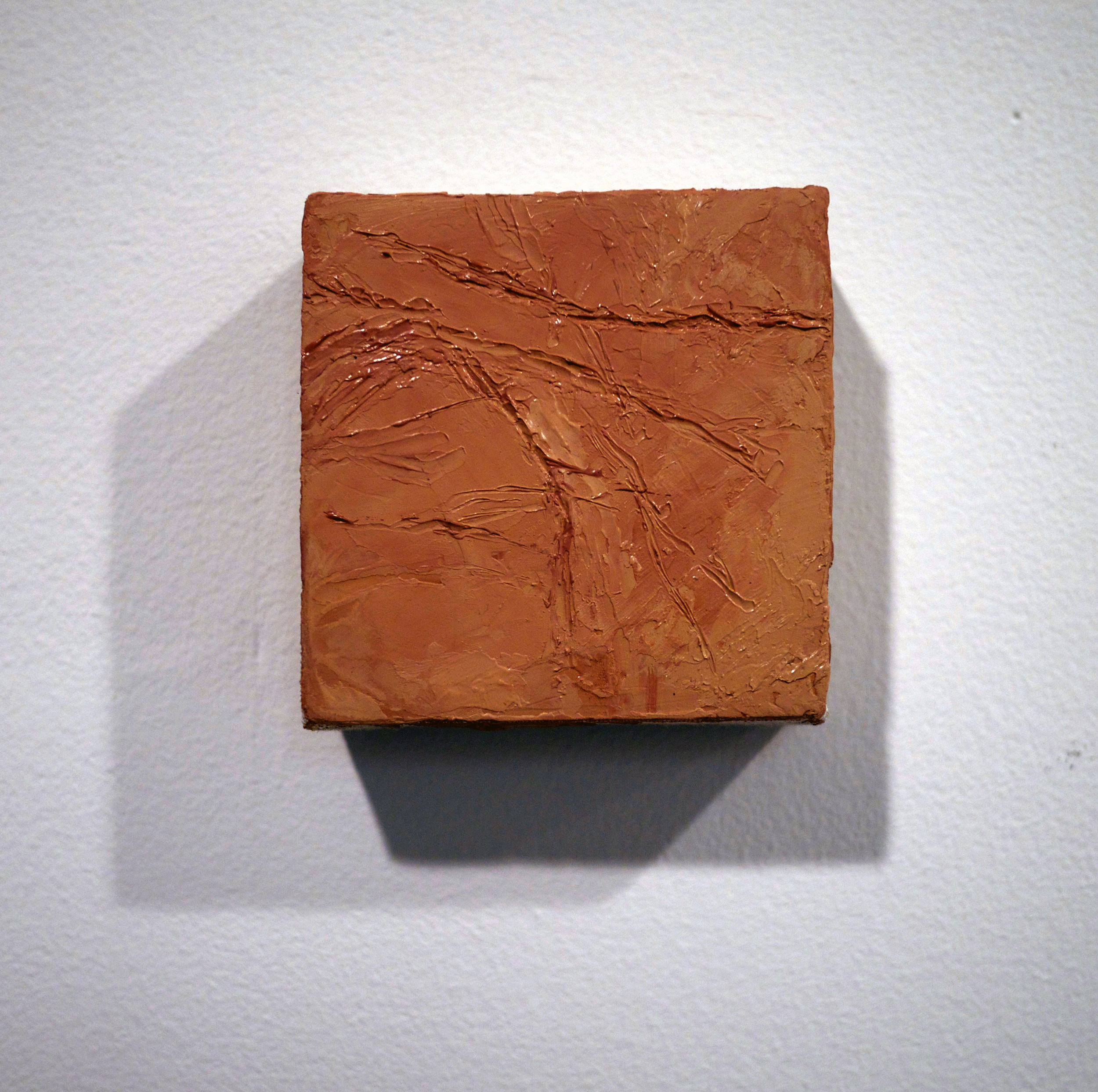 "Byron Kim. untitled. oil on linen. 3.25"" x 3.25"". 2013."