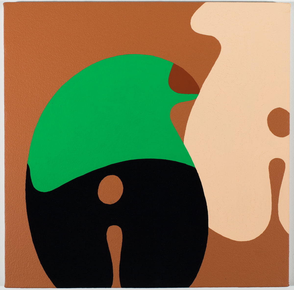 Tisch Abelow.  Untitled . Gouache and house paint on canvas. 16 inches x 16 inches. 2012.