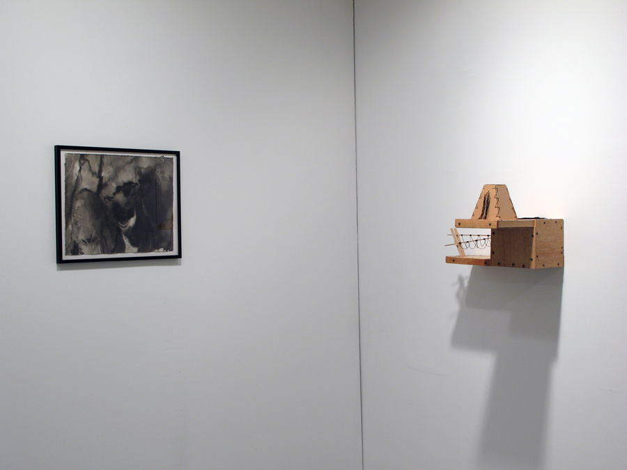 Installation View. Anke Weyer and Adrian Meraz.