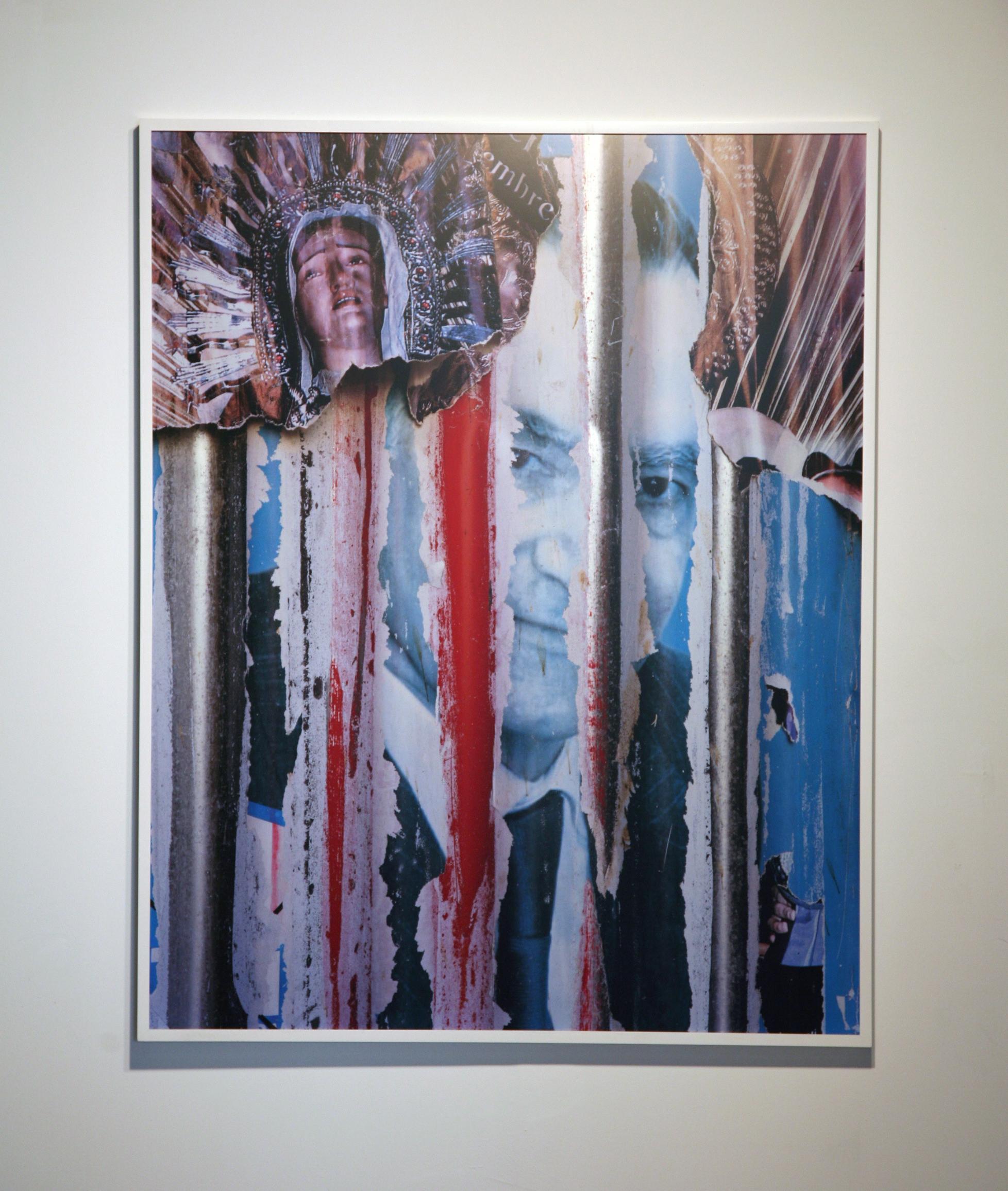 Tim Davis.  Virgin Mary (King of Cyan)  . C-Print. 40 x 50.5 inches.