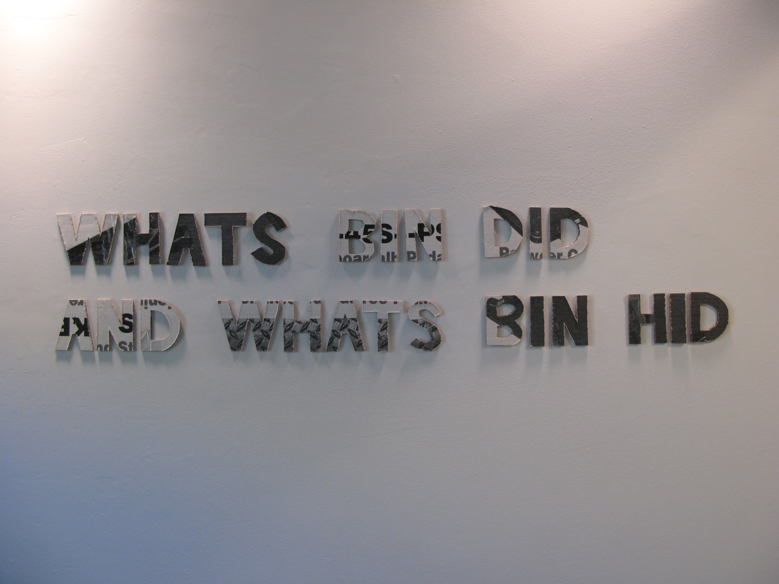 Title Wall by Stacy Fisher