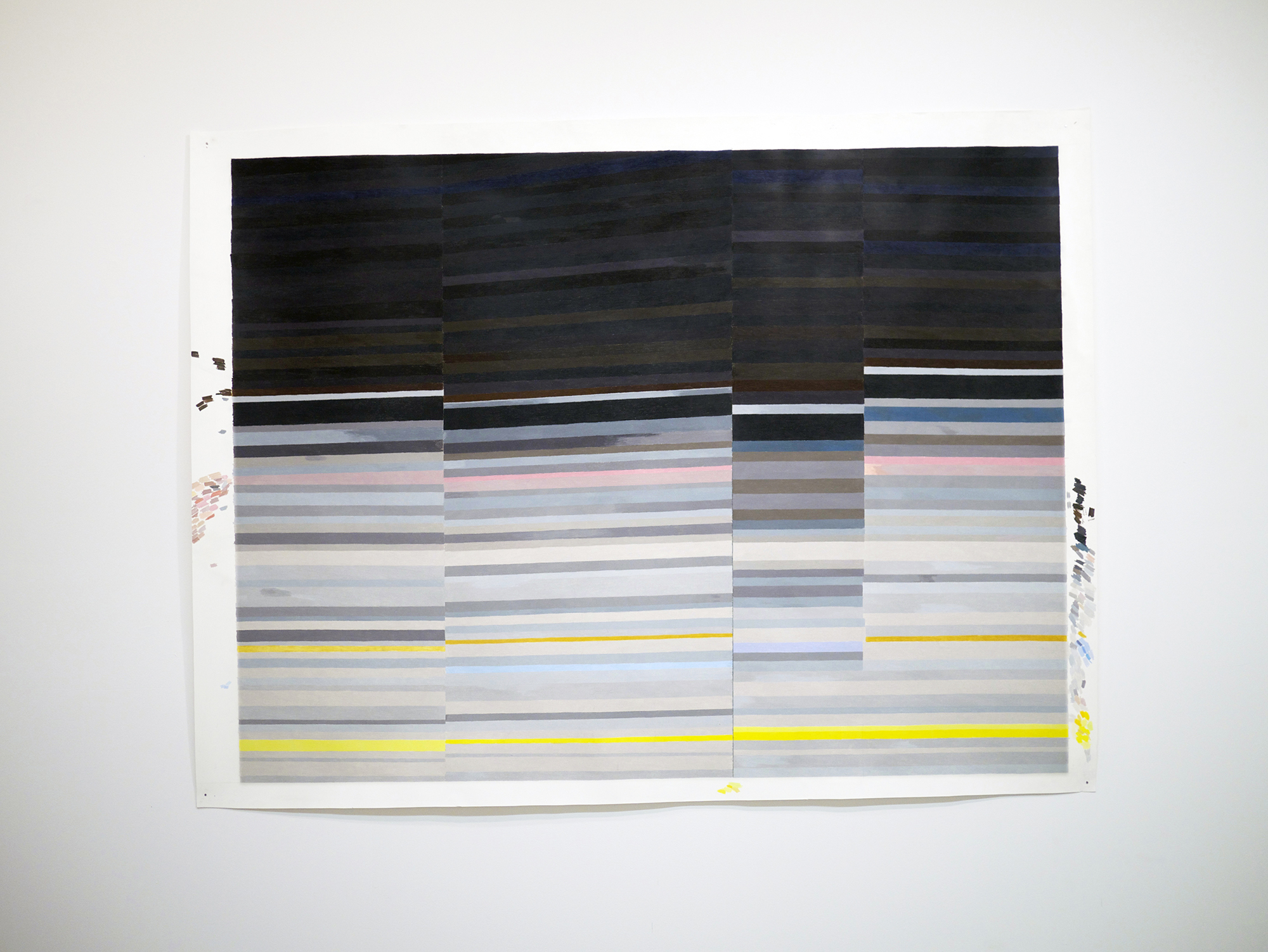 Carrie Gundersdorf  Four Section of Saturn's Rings.  Colored pencil and watercolor paper  46 inches x 60 inches  2013