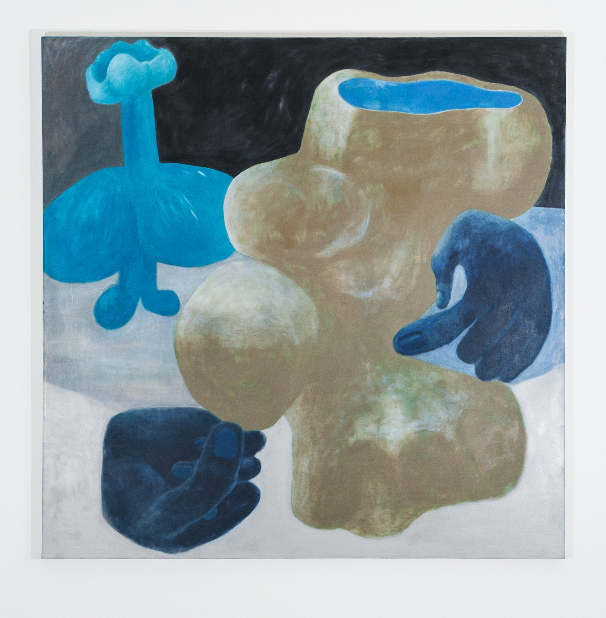 Blue Hands  55 inches x 55 inches  Oil on canvas  2015