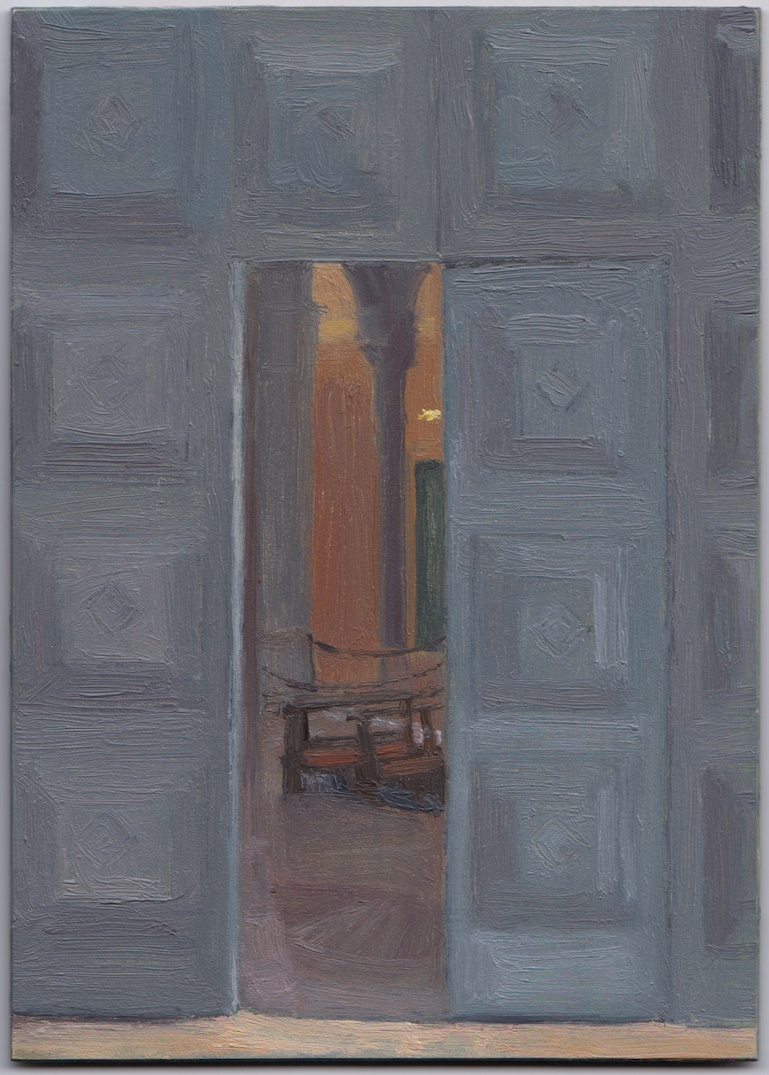 Eleanor Ray   Ravenna Doors   7 inches x 5 inches  Oil on panel  2014