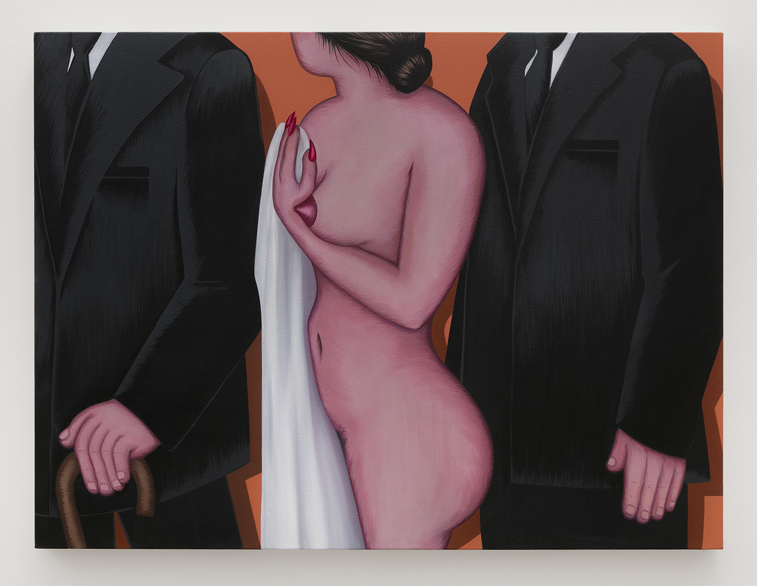 Funeral   Acrylic and oil on canvas  30 inches x 40 inches  2017